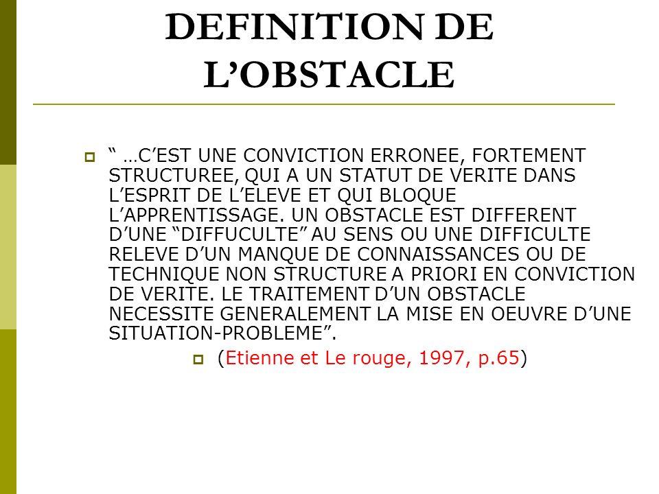 CONCEPTIONS DES ELEVES G. BROUSSEAU didacticien PARTIE EMERGEE ( CONCEPTIONS SITUEES) PARTIE IMMERGEE METAPHORE DE LICEBERG (OBSTACLES SOUS-JACENTS)