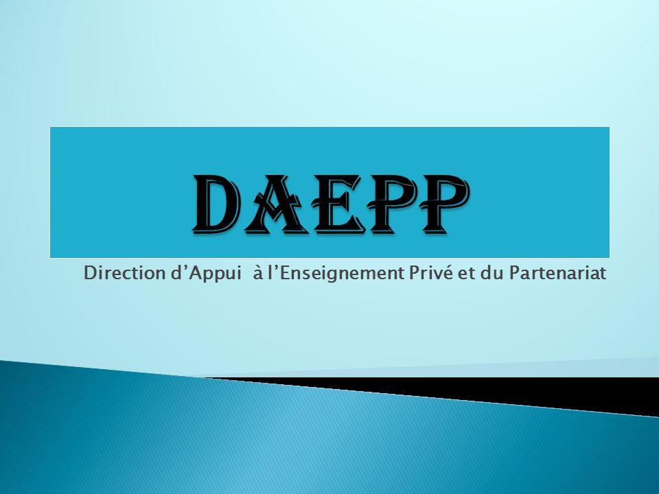 Direction dAppui à lEnseignement Privé et du Partenariat