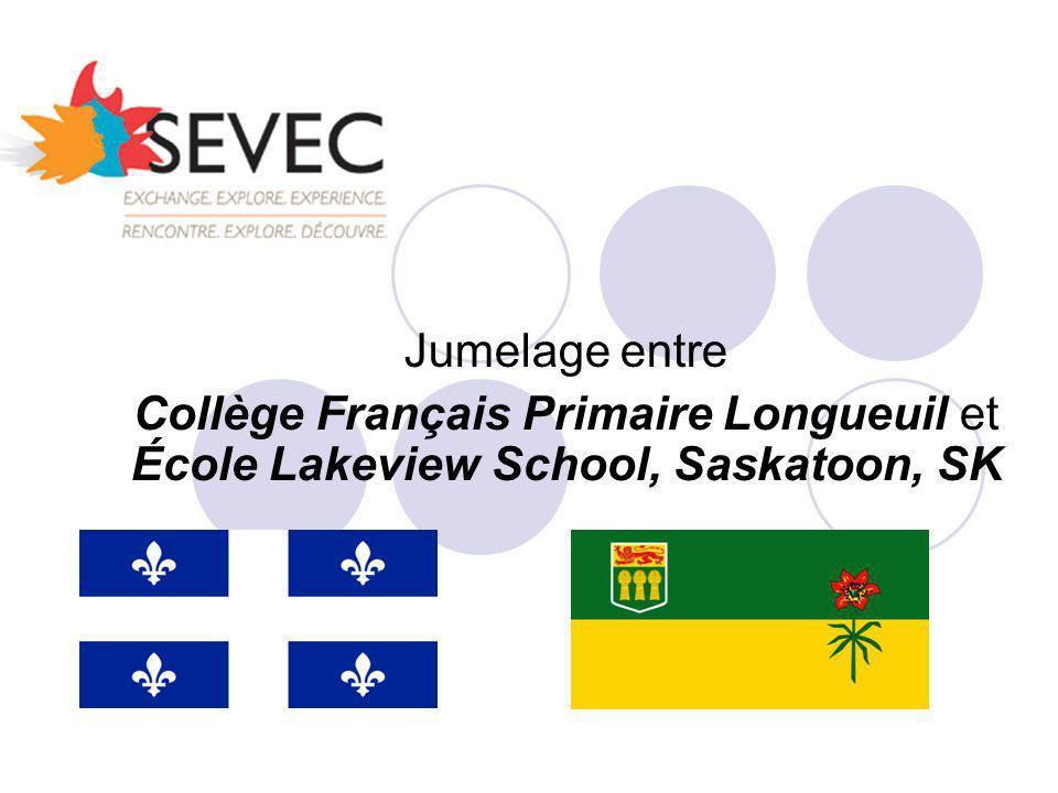 Jumelage entre Collège Français Primaire Longueuil et École Lakeview School, Saskatoon, SK