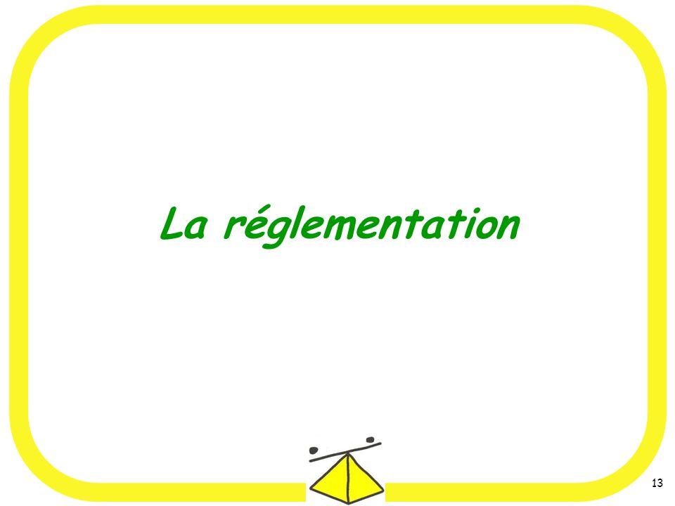 13 La réglementation