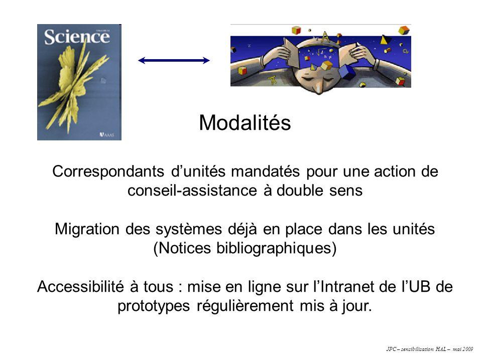 Modalités Correspondants dunités mandatés pour une action de conseil-assistance à double sens Migration des systèmes déjà en place dans les unités (No