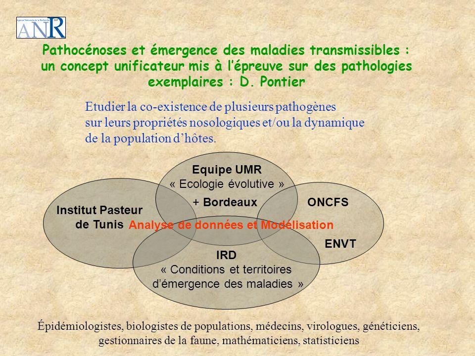 Pathocénoses et émergence des maladies transmissibles : un concept unificateur mis à lépreuve sur des pathologies exemplaires : D. Pontier Equipe UMR
