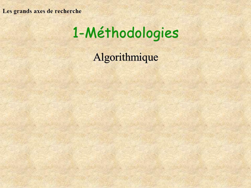 1-Méthodologies Algorithmique Les grands axes de recherche