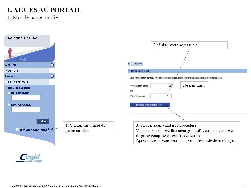 1: Cliquer sur « Mot de passe oublié » 2 : Saisir votre adresse mail 3: Cliquer pour valider la procédure.