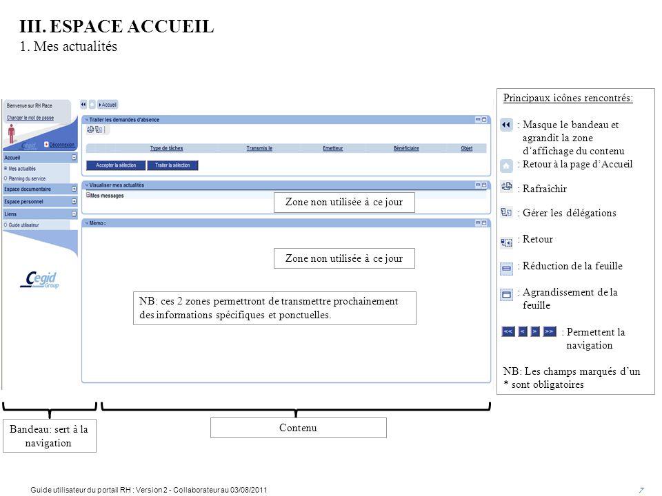 III.ESPACE ACCUEIL 1.