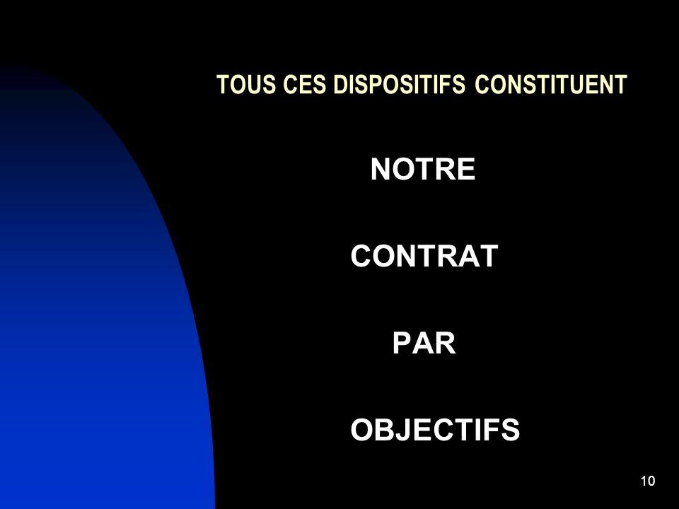 10 TOUS CES DISPOSITIFS CONSTITUENT NOTRE CONTRAT PAR OBJECTIFS