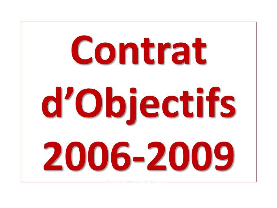Contrat dObjectifs 2006-2009 OBJECTIF 1 OBJECTIF 1 VALORISER LA REUSSITE DES ELEVES ET LIMAGE DU COLLEGE DANS SON ENVIRONNEMENT OBJECTIF 2OBJECTIF 2 DONNER DAVANTAGE DAMBITION AUX ELEVES DANS LEUR PROJET DORIENTATION ET DINSERTION, NOTAMMENT AU NIVEAU 3è OBJECTIF 3 OBJECTIF 3 RENFORCER LAUTONOMIE ET LA RESPONSABILITE DES ELEVES DANS LEUR VIE QUOTIDIENNE AU COLLEGE