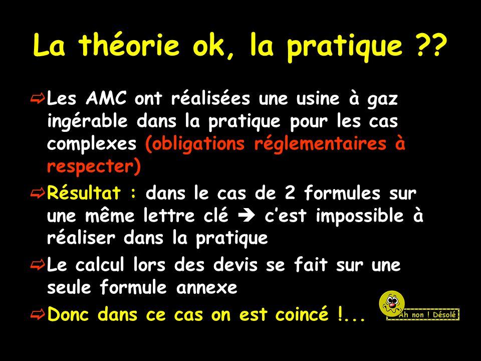 La théorie ok, la pratique ?.