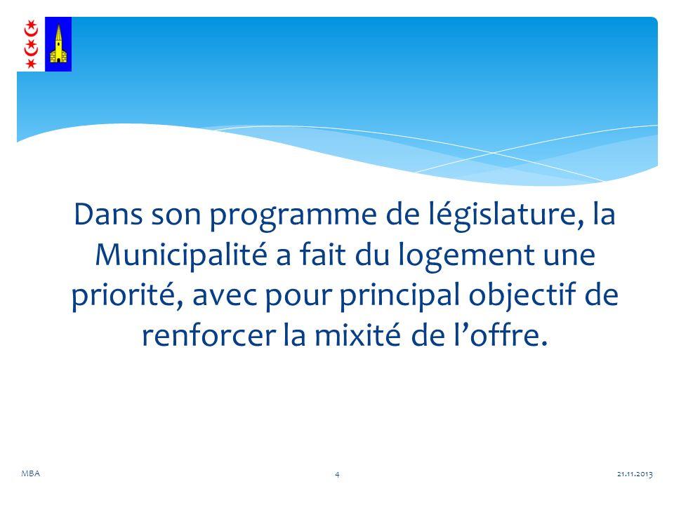 Dans son programme de législature, la Municipalité a fait du logement une priorité, avec pour principal objectif de renforcer la mixité de loffre.