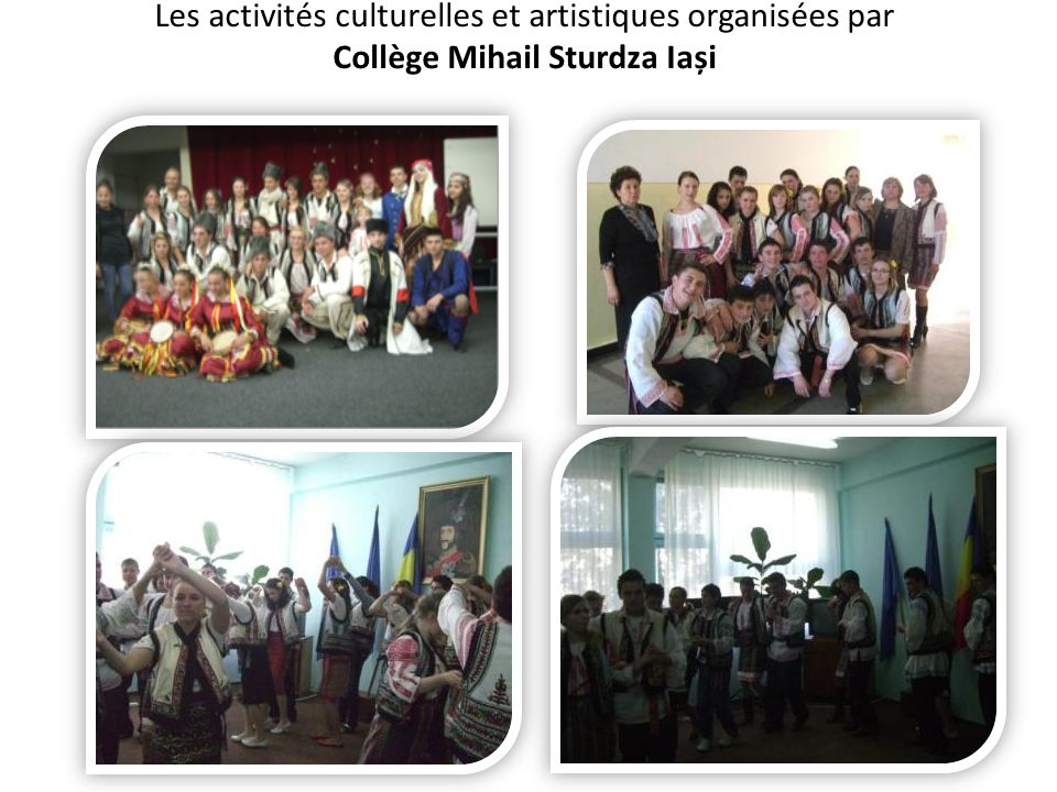 Les activités culturelles et artistiques organisées par Collège Mihail Sturdza Iași