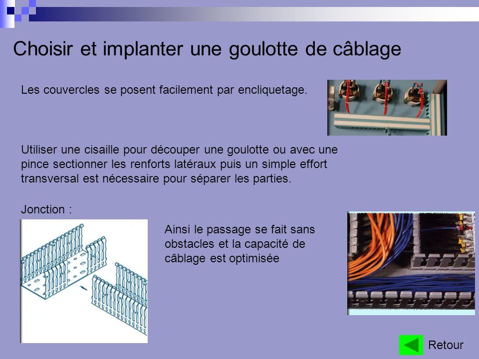 Réaliser un toron Utilisé lorsque lon câble des appareils montés en façade darmoire.