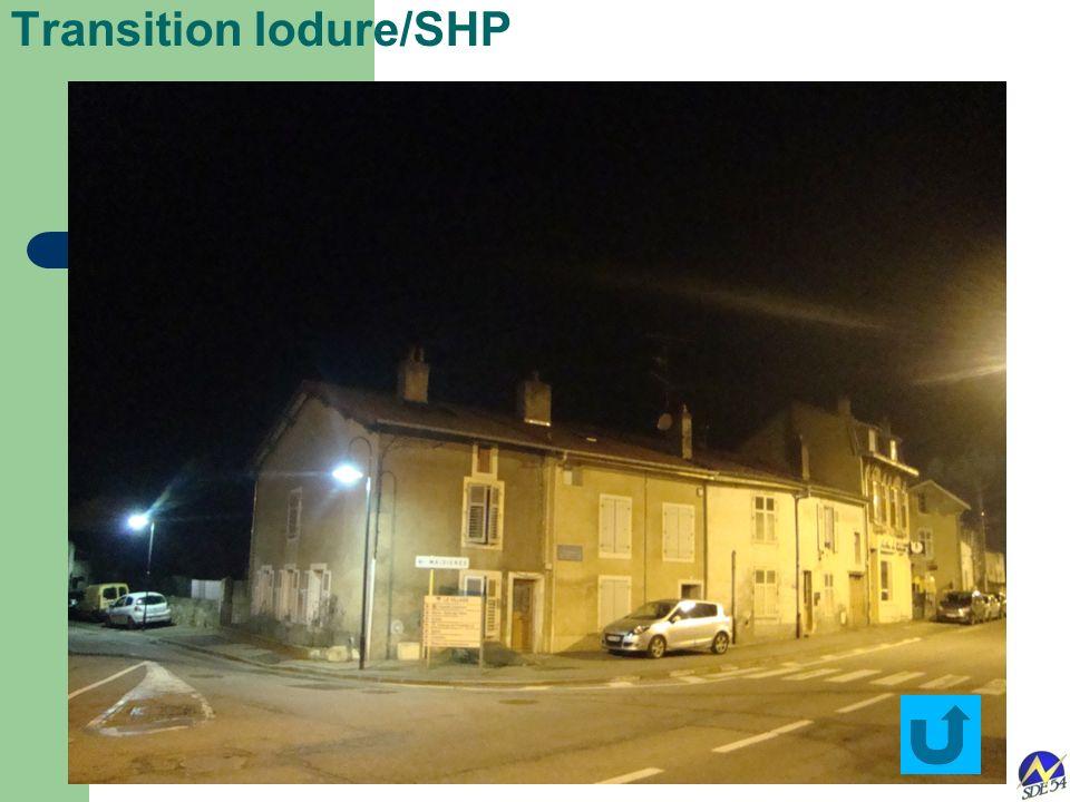 Transition Iodure/SHP