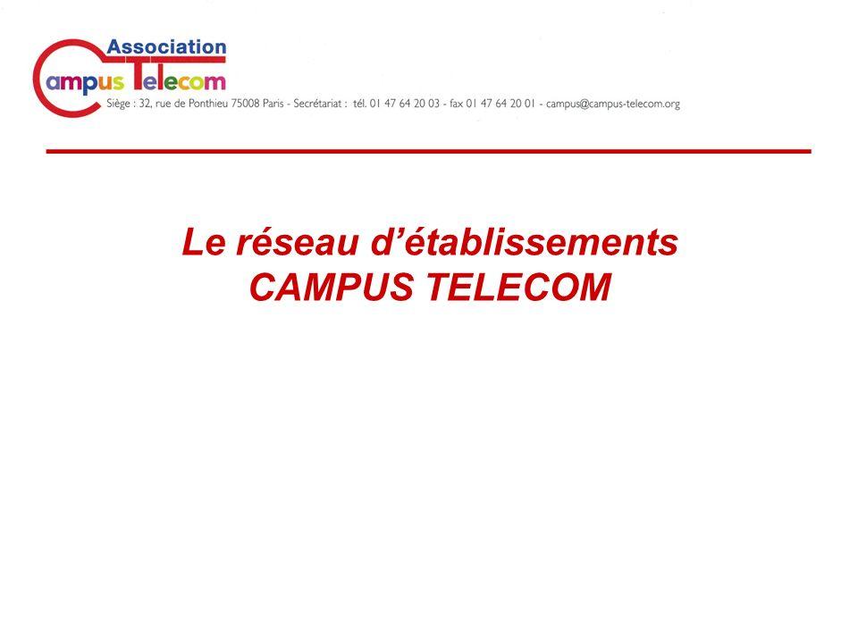 _____________________________ Le réseau détablissements CAMPUS TELECOM