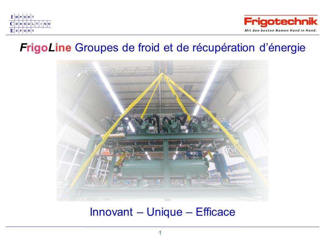FrigoLine Groupes de froid et de récupération dénergie Innovant – Unique – Efficace 1