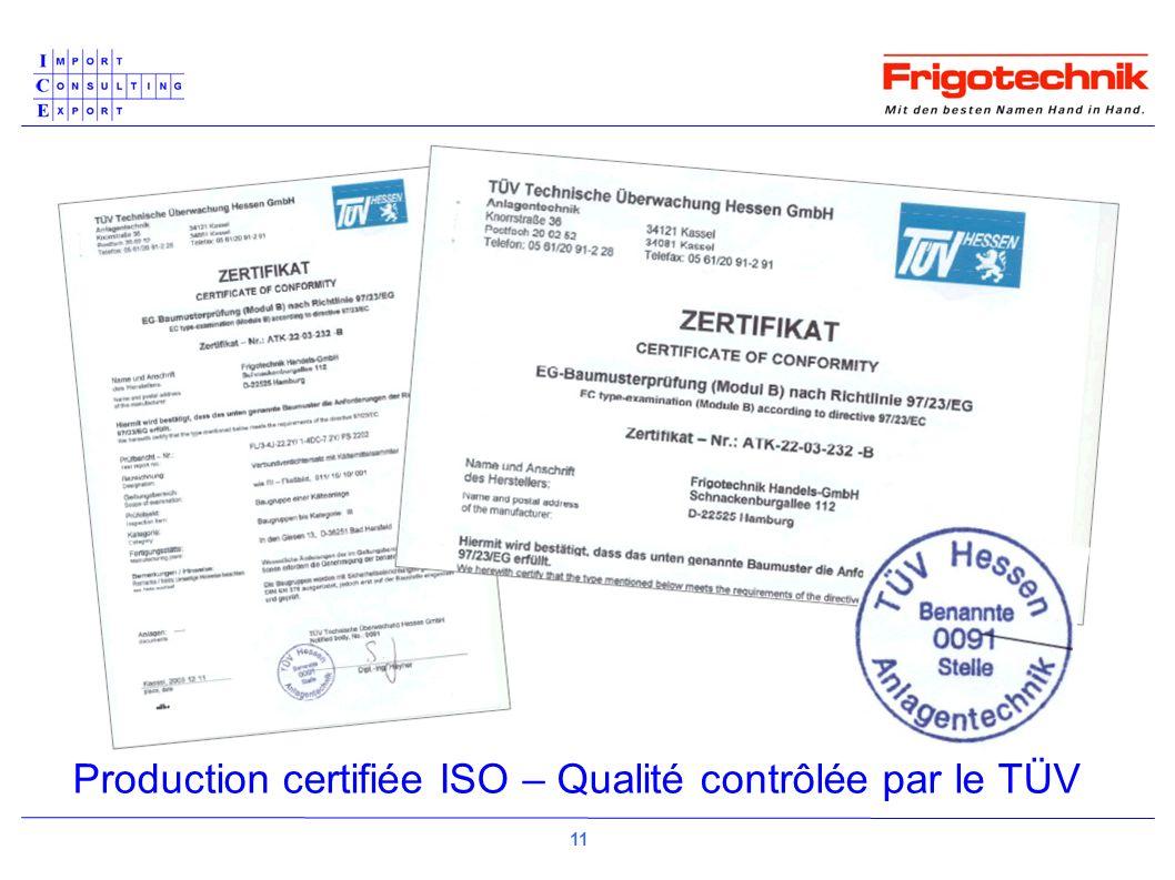 Production certifiée ISO – Qualité contrôlée par le TÜV 11