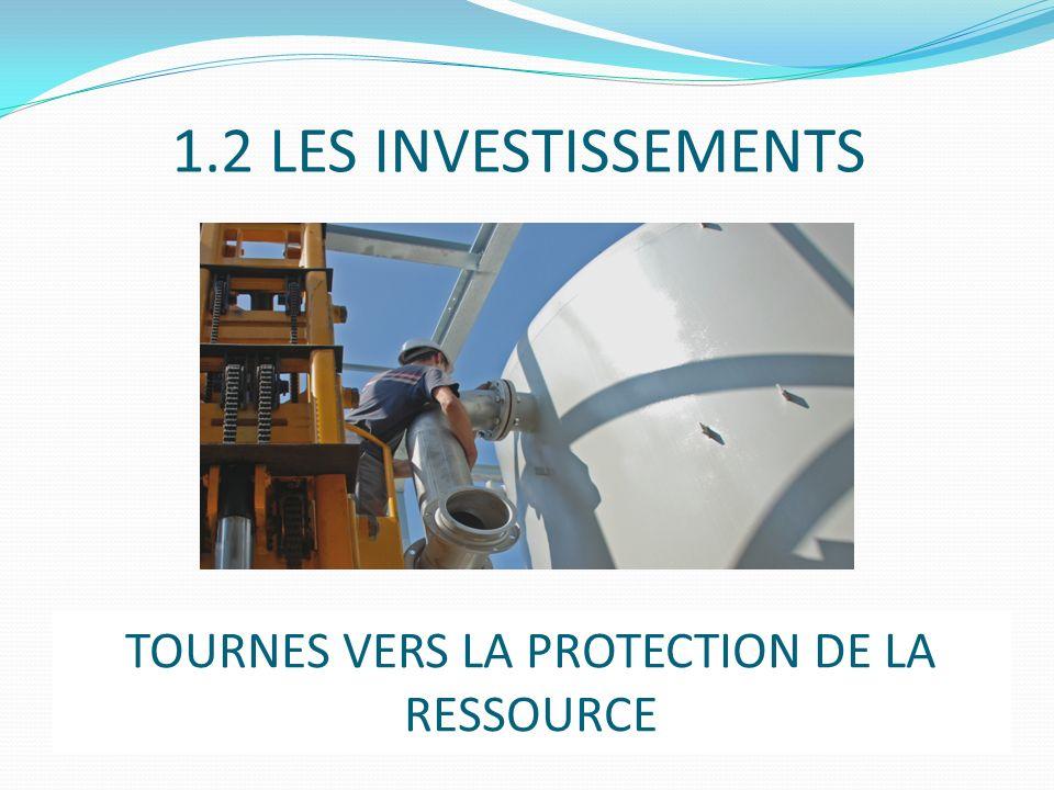 1.2 LES INVESTISSEMENTS TOURNES VERS LA PROTECTION DE LA RESSOURCE
