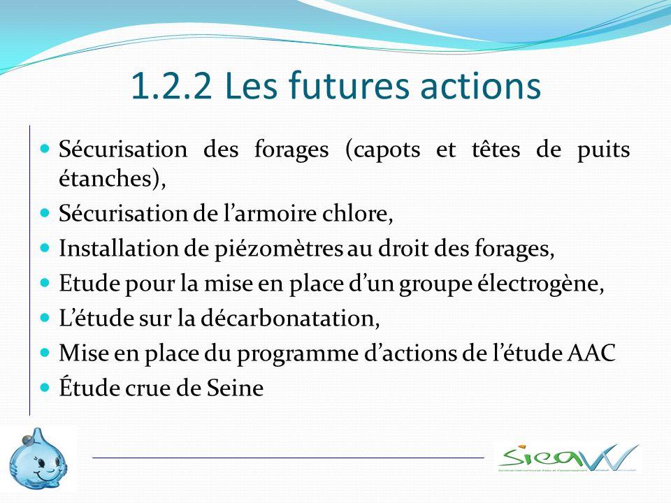 1.2.2 Les futures actions Sécurisation des forages (capots et têtes de puits étanches), Sécurisation de larmoire chlore, Installation de piézomètres a