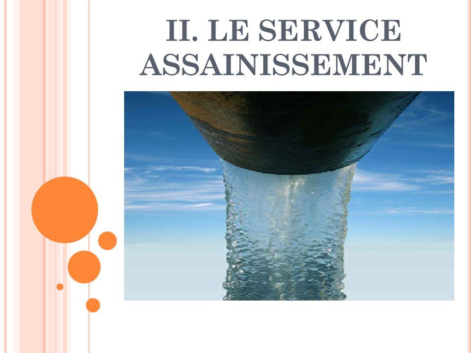 II. LE SERVICE ASSAINISSEMENT