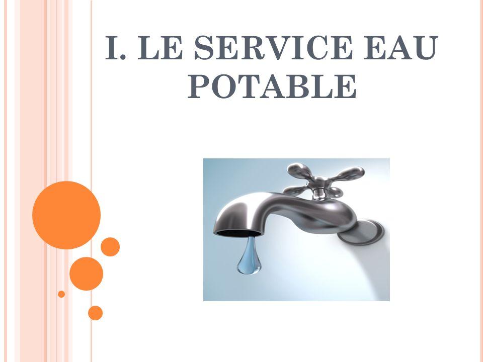I. LE SERVICE EAU POTABLE