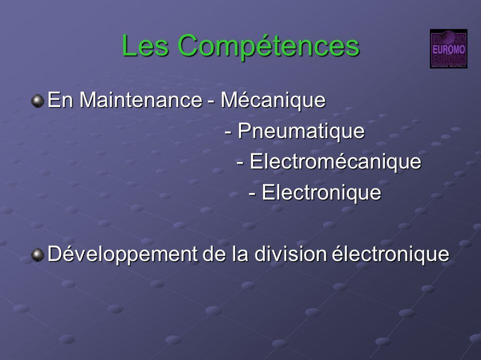 Les Compétences En Maintenance - Mécanique - Pneumatique - Pneumatique - Electromécanique - Electromécanique - Electronique - Electronique Développeme
