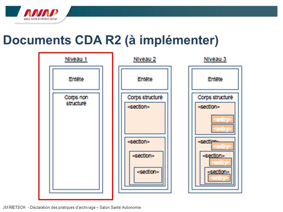 Documents CDA R2 (à implémenter) JM RIETSCH - Déclaration des pratiques darchivage – Salon Santé Autonomie