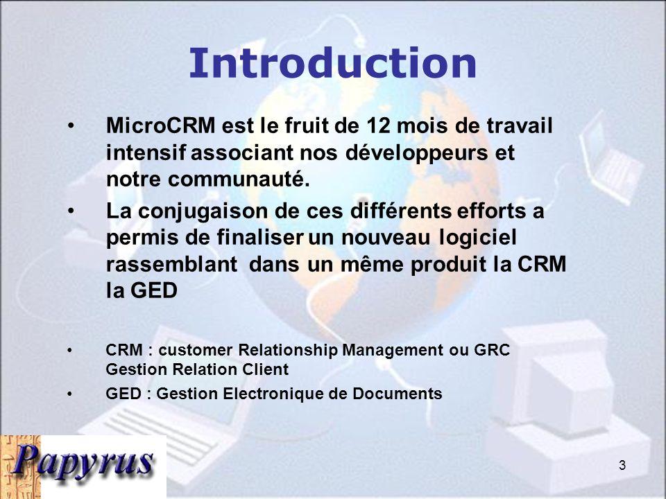 3 MicroCRM est le fruit de 12 mois de travail intensif associant nos développeurs et notre communauté.