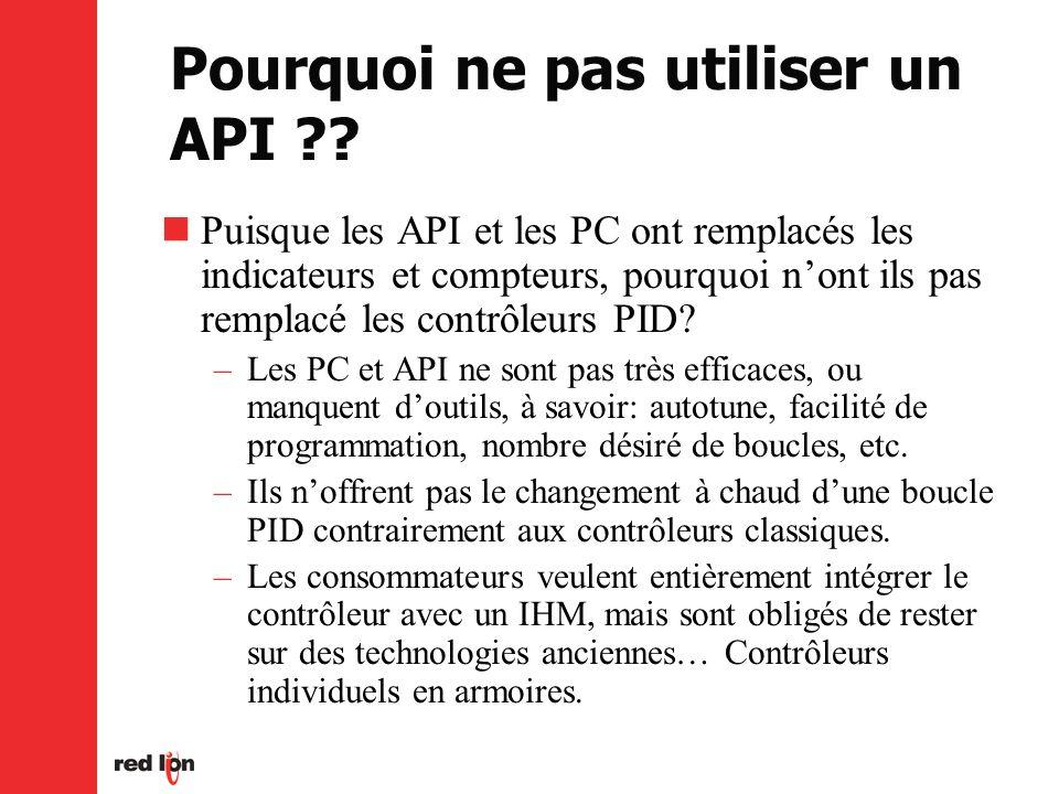 Pourquoi ne pas utiliser un API ?.