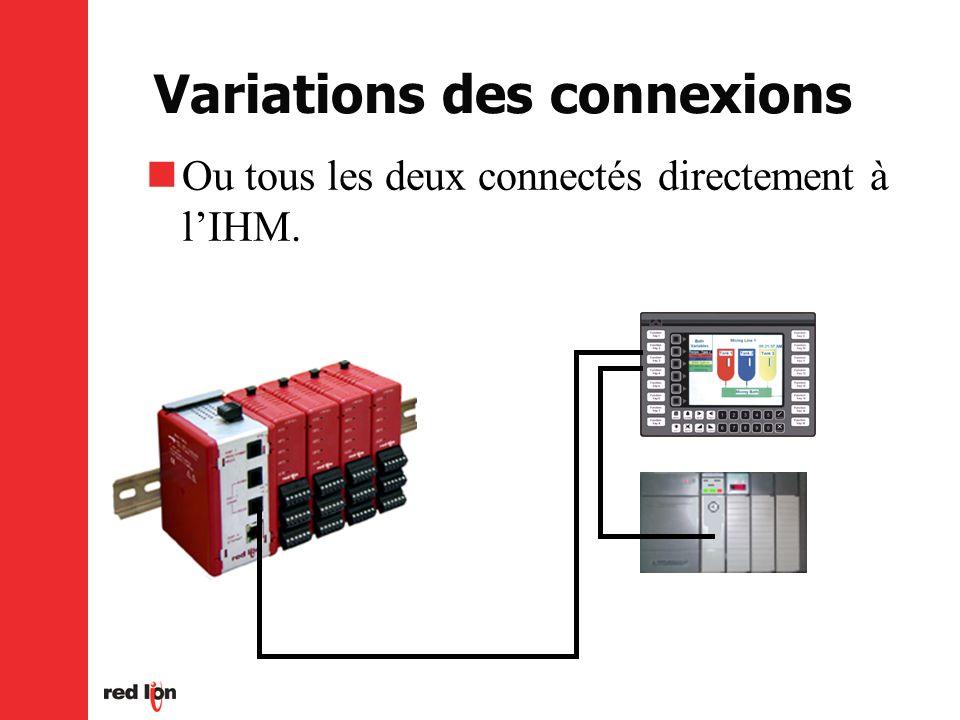 Variations des connexions Ou tous les deux connectés directement à lIHM.
