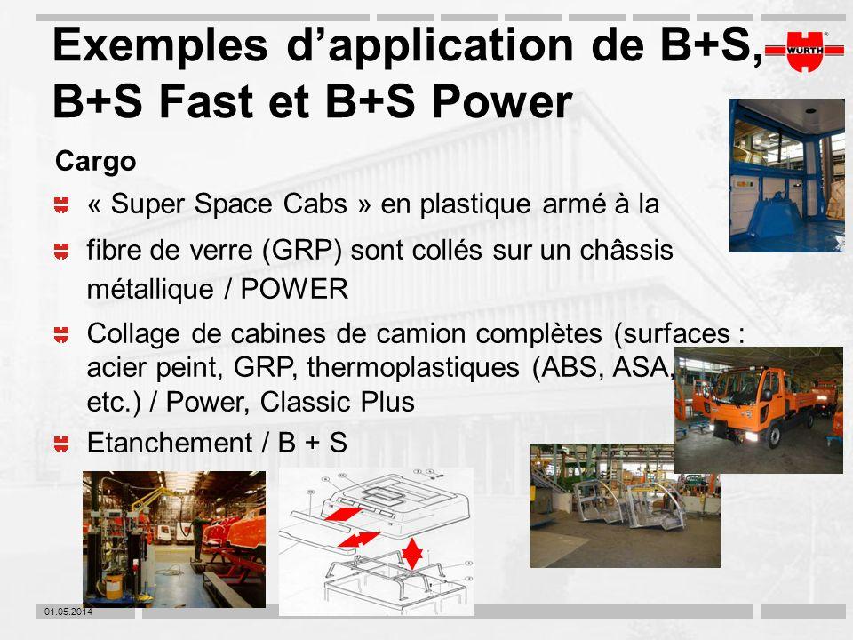 01.05.2014 Exemples dapplication de B+S, B+S Fast et B+S Power Cargo « Super Space Cabs » en plastique armé à la fibre de verre (GRP) sont collés sur