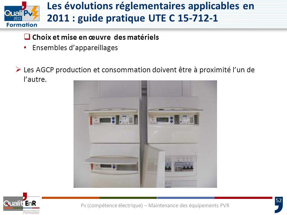 52 Choix et mise en œuvre des matériels Ensembles dappareillages Les AGCP production et consommation doivent être à proximité lun de lautre.