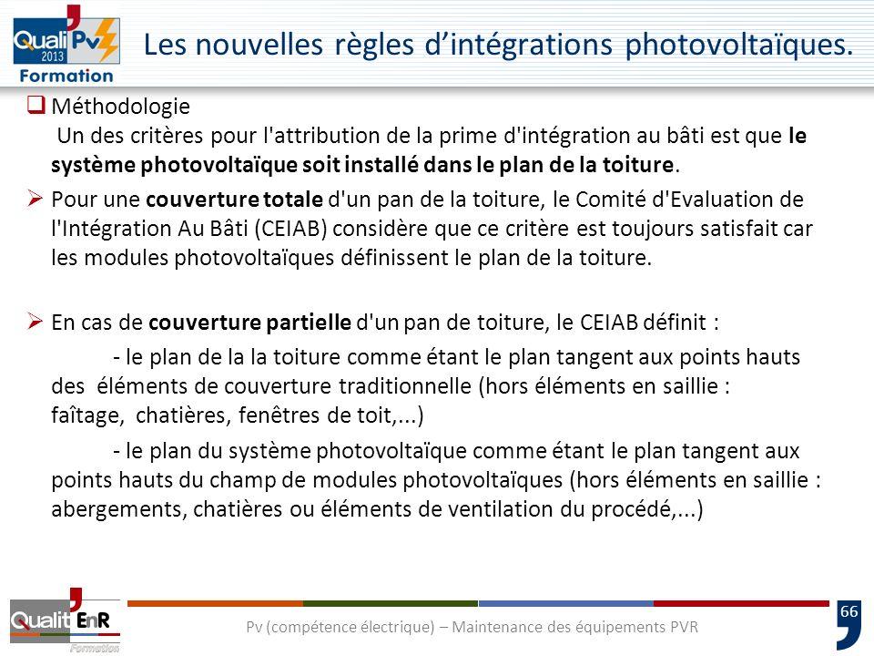 66 Les nouvelles règles dintégrations photovoltaïques.