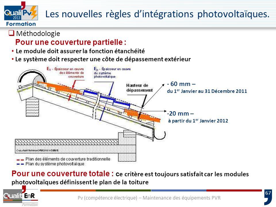 67 Les nouvelles règles dintégrations photovoltaïques.