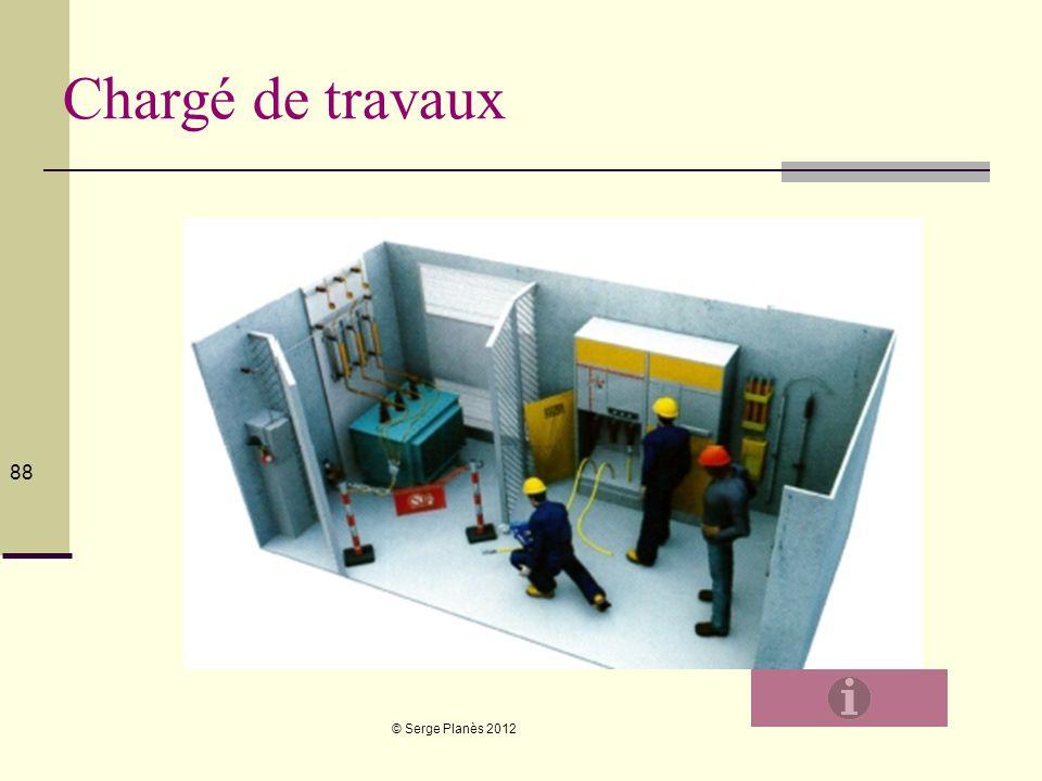 © Serge Planès 2012 88 Chargé de travaux