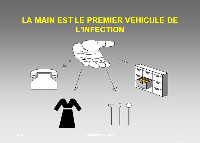 AOIFormation BF 2005 36 LA MAIN EST LE PREMIER VEHICULE DE L'INFECTION