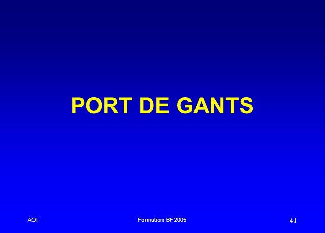 AOIFormation BF 2005 41 PORT DE GANTS