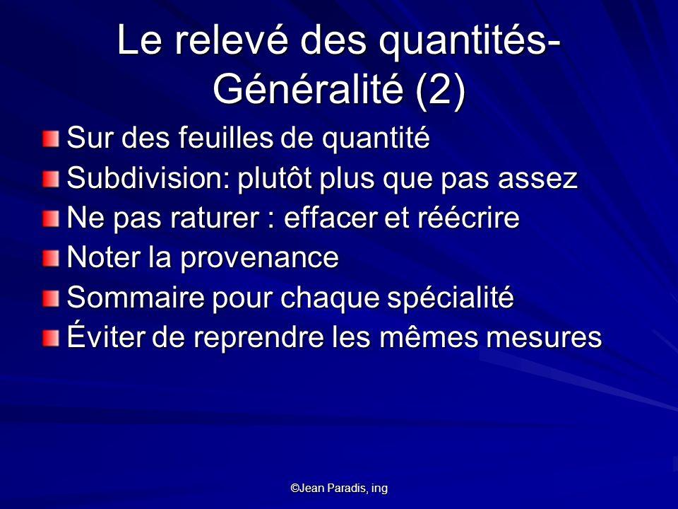 ©Jean Paradis, ing Charpenterie (2 de 2) Grosses pièces (i.e.