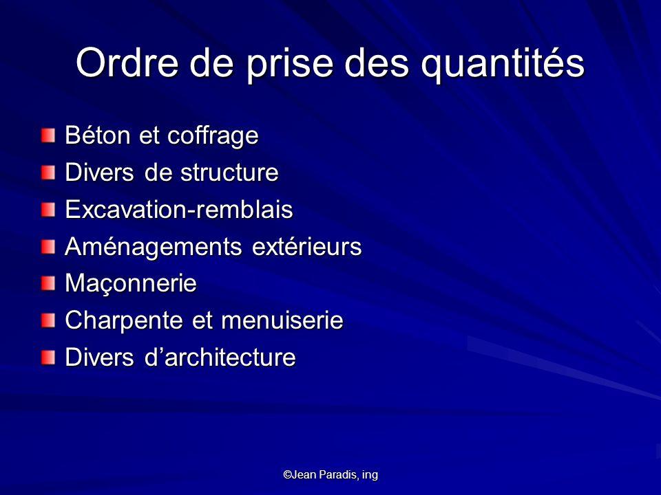 ©Jean Paradis, ing Charpenterie standardisation DIMENS.