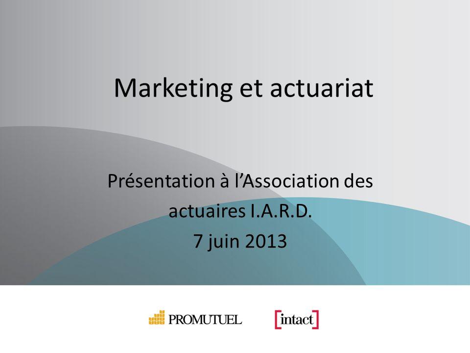 Présentation à lAssociation des actuaires I.A.R.D. 7 juin 2013