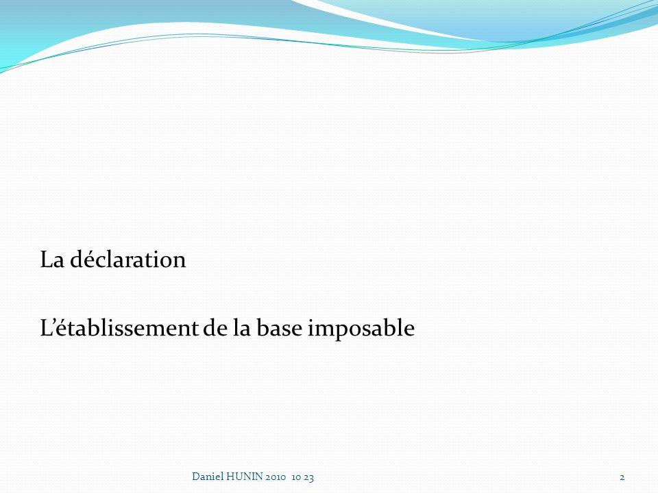 La déclaration Les paiements vers des paradis fiscaux (art.