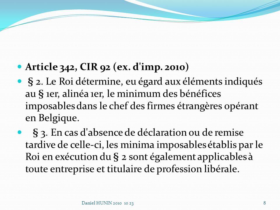 Article 342, CIR 92 (ex. d imp. 2010) § 2.