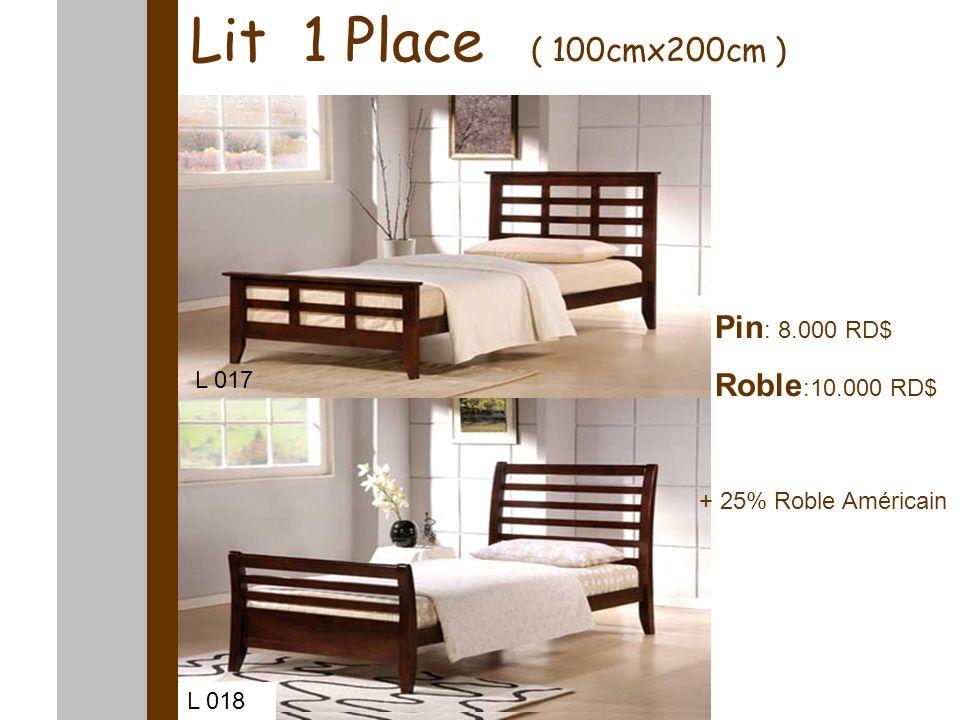 Lit baldaquin Lit 1 Place ( 100cmx200cm ) Pin : 8.000 RD$ Roble :10.000 RD$ L 017 L 018 + 25% Roble Américain