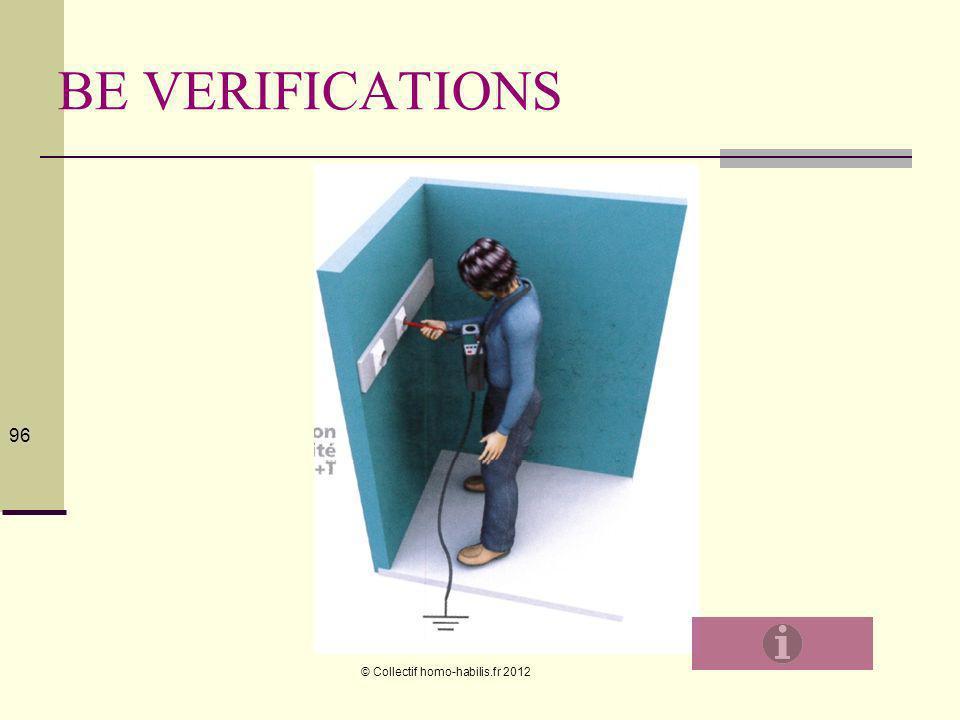 © Collectif homo-habilis.fr 2012 96 BE VERIFICATIONS