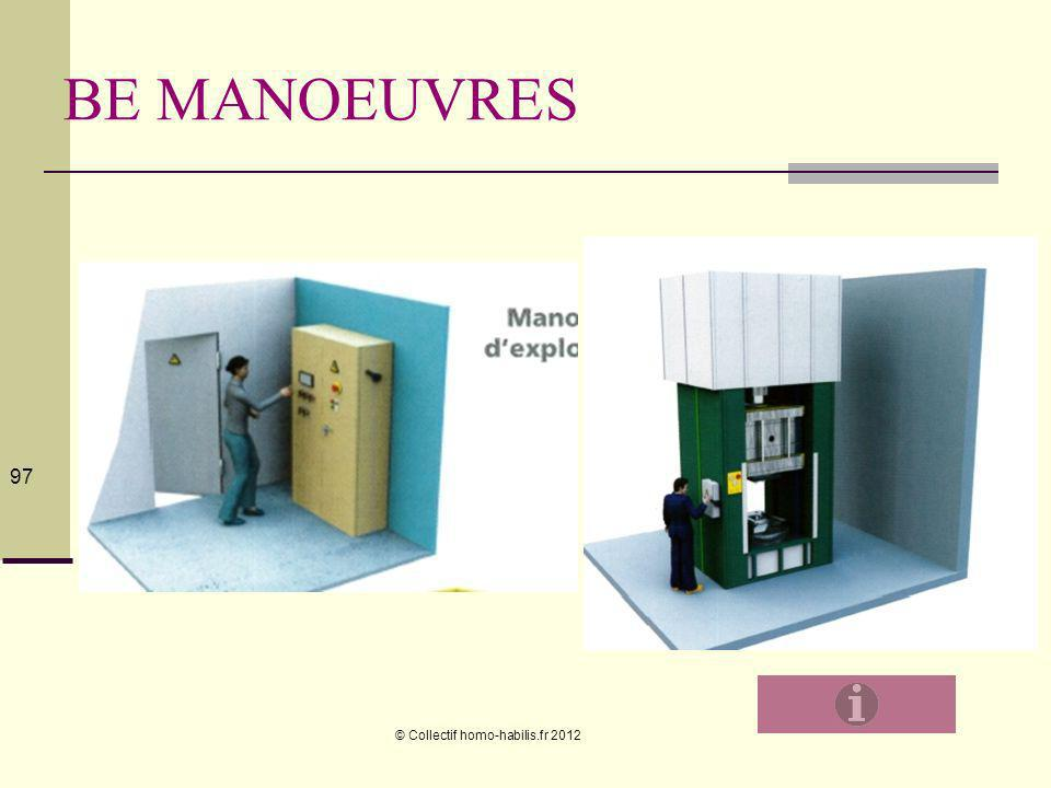 © Collectif homo-habilis.fr 2012 97 BE MANOEUVRES