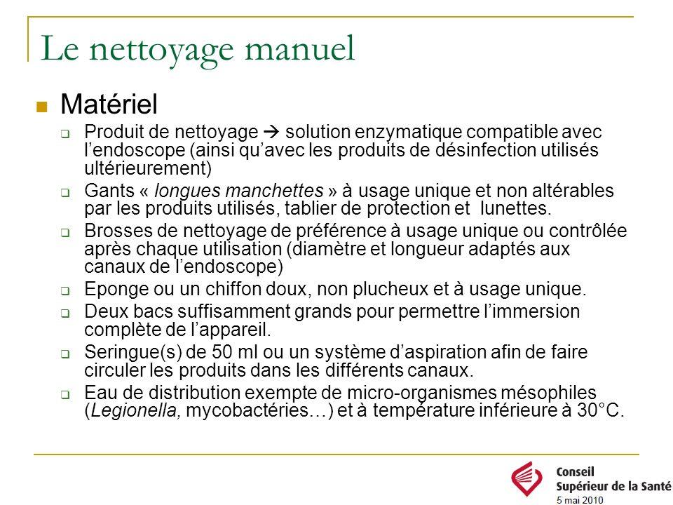 Le nettoyage manuel Matériel Produit de nettoyage solution enzymatique compatible avec lendoscope (ainsi quavec les produits de désinfection utilisés