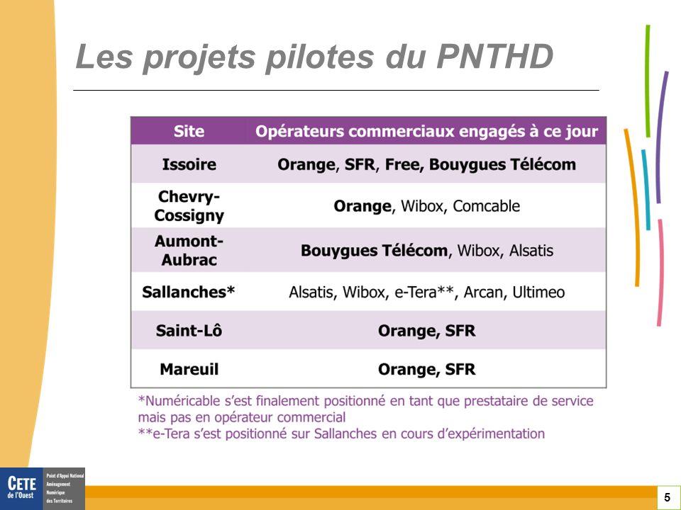 5 Les projets pilotes du PNTHD