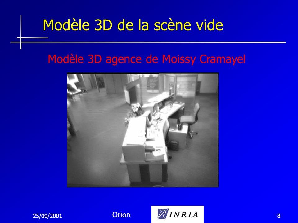 25/09/2001 Orion 9 Modèle 3D de la scène vide Modèle 3D agence de Moissy Cramayel
