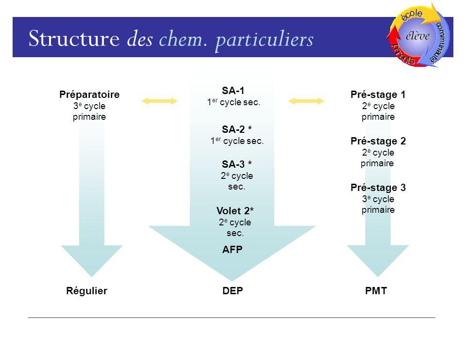 Structure des chem.particuliers SA-1 1 er cycle sec.