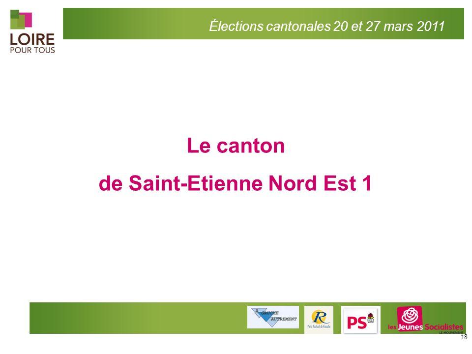 Le canton de Saint-Etienne Nord Est 1 Élections cantonales 20 et 27 mars 2011 18