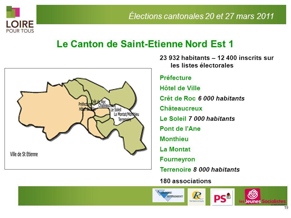 Élections cantonales 20 et 27 mars 2011 23 932 habitants – 12 400 inscrits sur les listes électorales Préfecture Hôtel de Ville Crêt de Roc 6 000 habi
