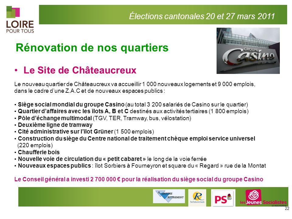Le Site de Châteaucreux Le nouveau quartier de Châteaucreux va accueillir 1 000 nouveaux logements et 9 000 emplois, dans le cadre dune Z.A.C et de no